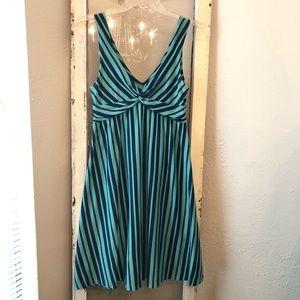 Patagonia Kamala Dress Size Small Navy/Turquoise